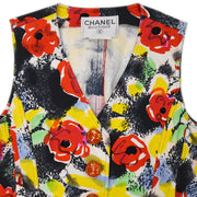 CHANEL 97P #38 Sleeveless Dress One Piece Skirt Multicolor