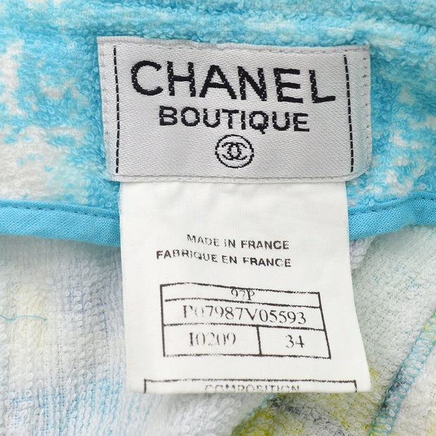CHANEL 97P #34 Setup Sleeveless Vest Tops Skirt Light Blue