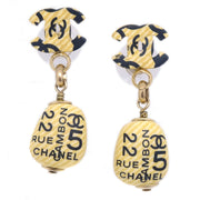 CHANEL Shaking Piercing Ivory Black 02P
