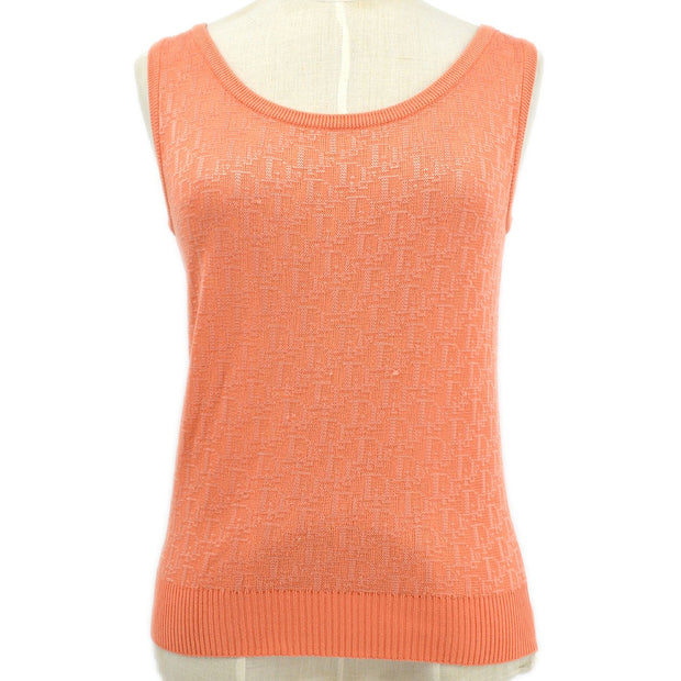 Christian Dior #M Trotter Pattern Sleeveless Tops Pink