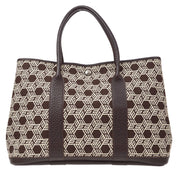 HERMES Garden Party Hand Tote Bag Brown Toile So H Buffalo Sindhu