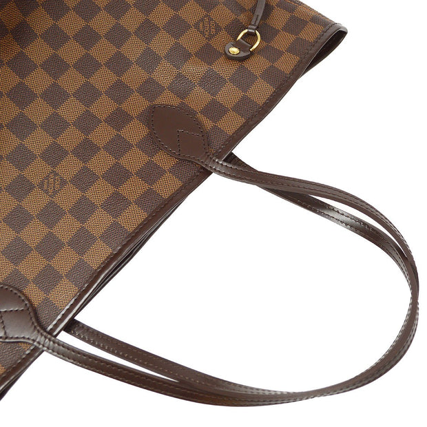 LOUIS VUITTON NEVERFULL MM HAND TOTE BAG DAMIER EBENE N51105