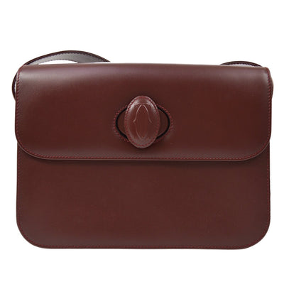 CARTIER Must De Cartier Cross Body Shoulder Bag Bordeaux