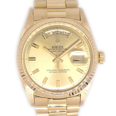 ROLEX OYSTER PERPETUAL DATEJUST Ref.1803 Self-winding Watch K18