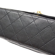 CHANEL Paris Limited Classic Double Flap Medium Shoulder Bag Black