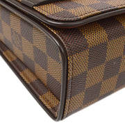 LOUIS VUITTON TRIBECA RON HAND BAG DAMIER EBENE N51160