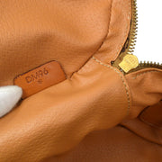 CELINE Macadam Cosmetic Hand Bag Pouch Brown