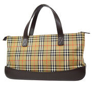 BURBERRY Burberry Check Hand Bag Beige