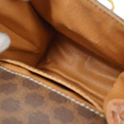 CELINE Macadam Pattern Mini Hand Bag Brown