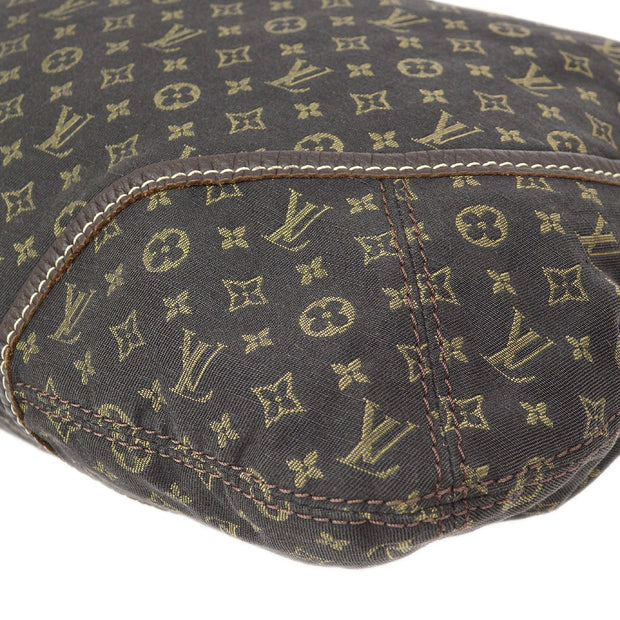 LOUIS VUITTON MANON MM HAND BAG EBENE MONOGRAM MINI LIN M95619