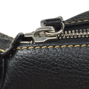 CHANEL Fringe Hand Bag Black Caviar Skin