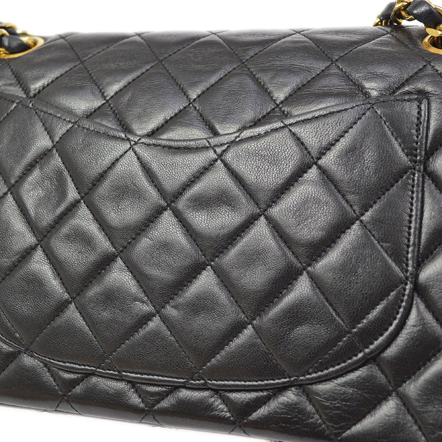 CHANEL Classic Double Flap Small Chain Shoulder Bag Black