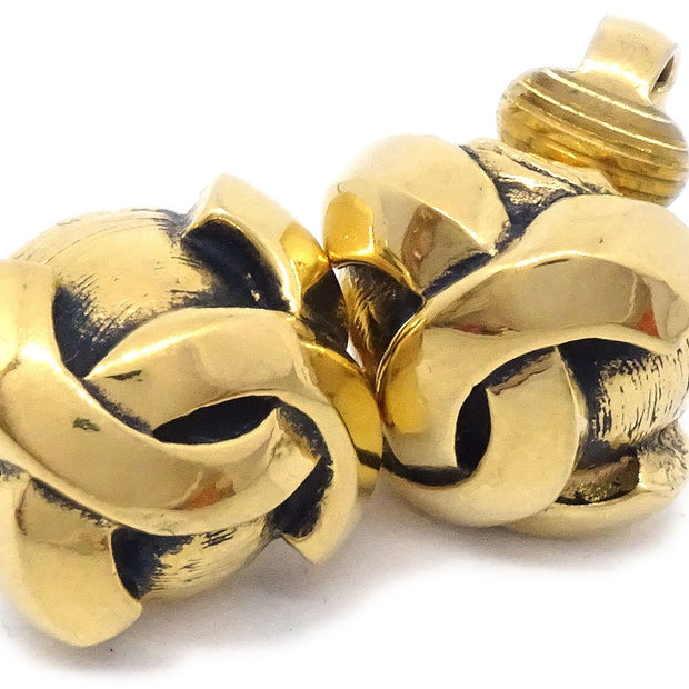 CHANEL Earrings Clip-On Gold 2051