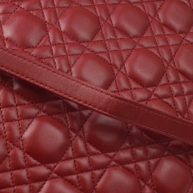 Christian Dior Lady Dior Cannage 2way Hand Shoulder Bag Red