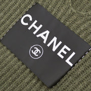 CHANEL Sleeveless One Piece Dress Knit Sweater Khaki