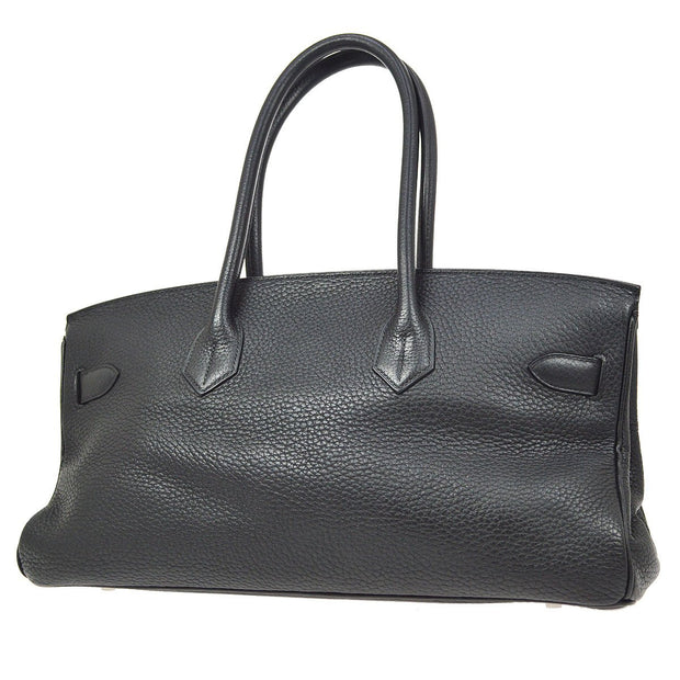 HERMES SHOULDER BIRKIN Hand Bag Black Taurillon Clemence