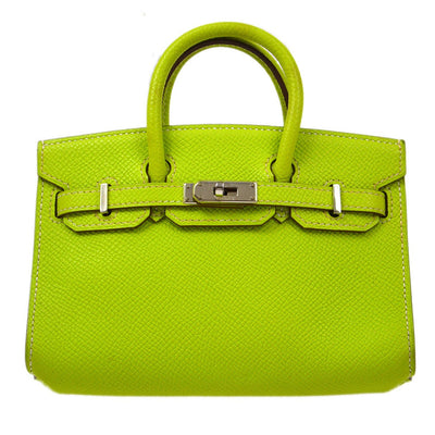 HERMES TINY BIRKIN 2way Hand Shoulder Bag Kiwi Epsom