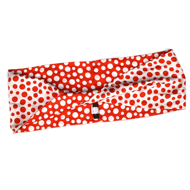 LOUIS VUITTON Snood Yayoi Kusama Dot Scarf Red Small Good