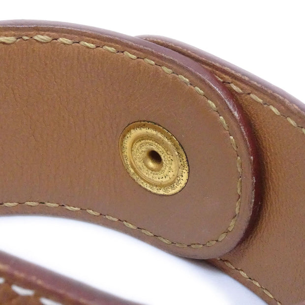 HERMES Medor Bangle Brown Courchevel