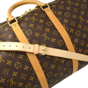 LOUIS VUITTON KEEPALL 55 BANDOULIERE TRAVEL DUFFLE BAG MONOGRAM M41414