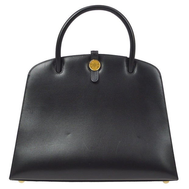HERMES DALVY 30 Hand Bag Black Box Calf