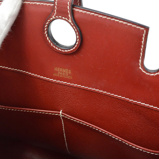 HERMES DALVY 30 Hand Bag Rouge H Box Calf