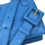 CHANEL V Stitch Belt Bum Bag #34/85 Blue Caviar Skin
