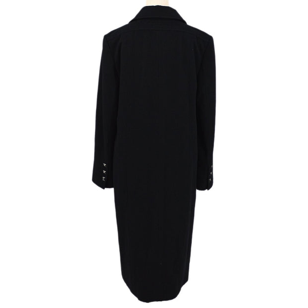 CHANEL 03A #40 Long Coat Black