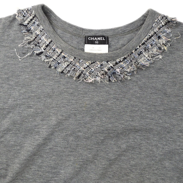 CHANEL Trimming T-Shirts Gray