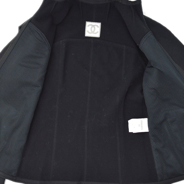 CHANEL 04A #36 Sports Line Zip-up Jacket Black
