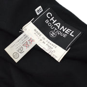CHANEL 94P #36 Sleeveless One Piece Dress Black