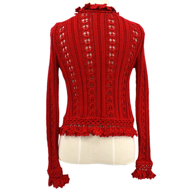 CHANEL 04P #36 Cardigan Red