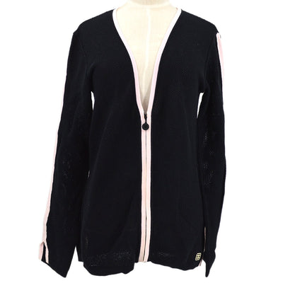 CHANEL 03P #42 Zip-up Mesh Jacket Black