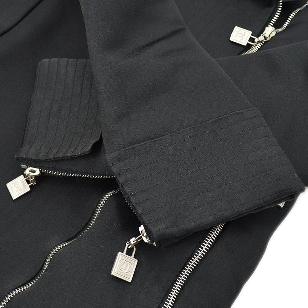 CHANEL 03A #36 Sports Line Long Jacket Black