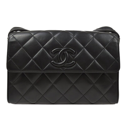 CHANEL Shoulder Bag Black Lambskin