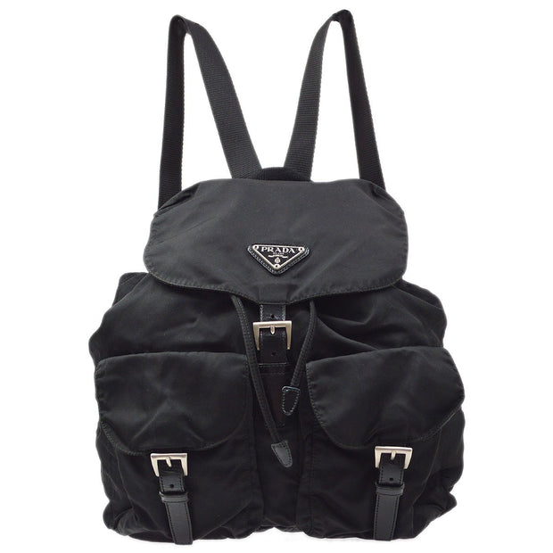 PRADA Backpack Hand Bag Black