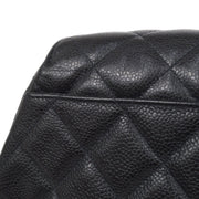 CHANEL Chain Hand Bag Black Caviar Skin