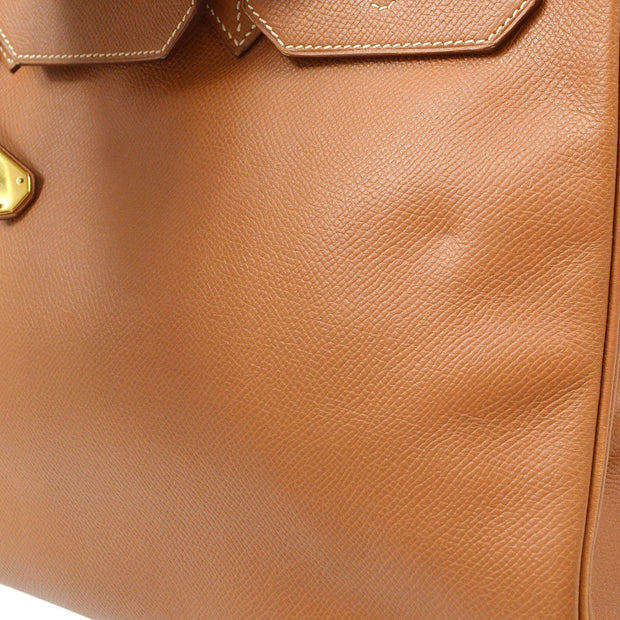 HERMES BIRKIN 35 Hand Bag Gold Courchevel