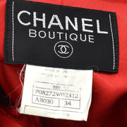 CHANEL 96A#34 Long Coat Red