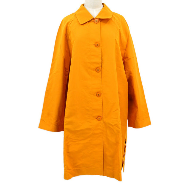CHANEL 04533 #38 Long Coat Luster Orange