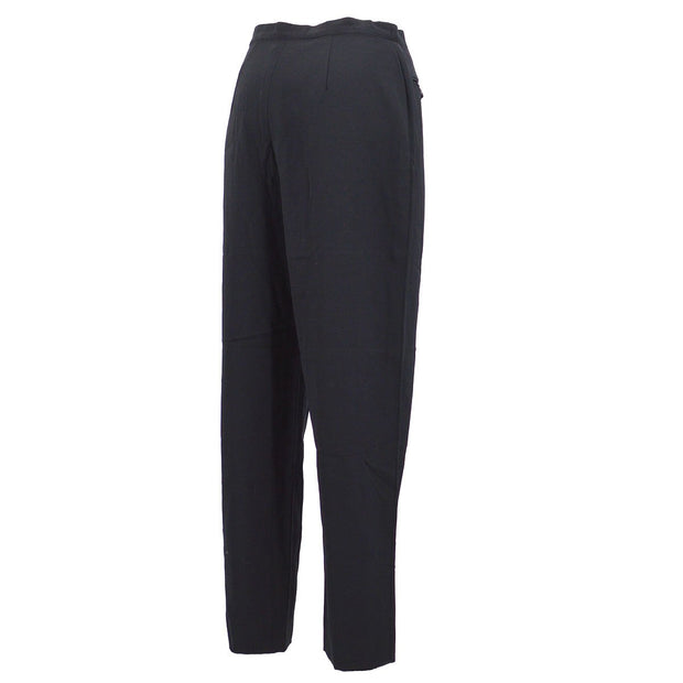 CHANEL 96P #38 Straight Long Pants Black