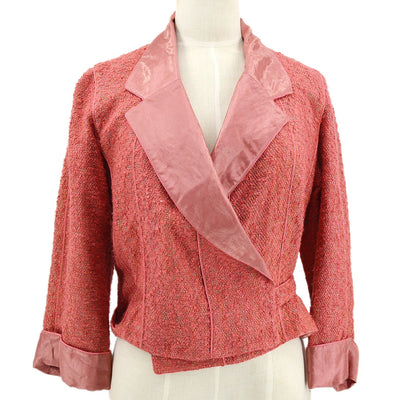 CHANEL 99P #38 Tweed Jacket Pink