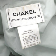 CHANEL 00A #40 Zip-up Over Jacket Light Blue