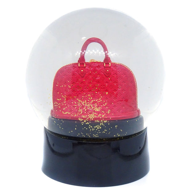 LOUIS VUITTON Snow Globe Dome Object Alma Novelty Red Glass Small Good