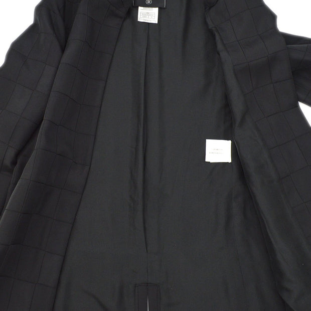 CHANEL 00A #38 Front opening Long Coat Black