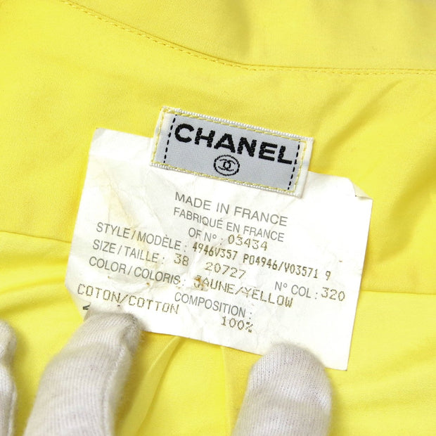 CHANEL 03434 #38 Front Opening Shirts Yellow