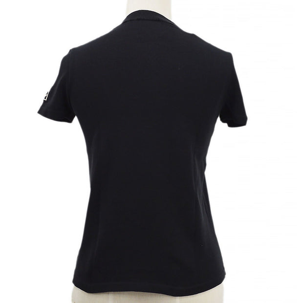 CHANEL 03A #38 Sport Line Round Neck Knit Tops Black
