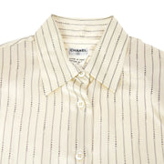 CHANEL 99A #38 Striped Pattern Shirt Ivory