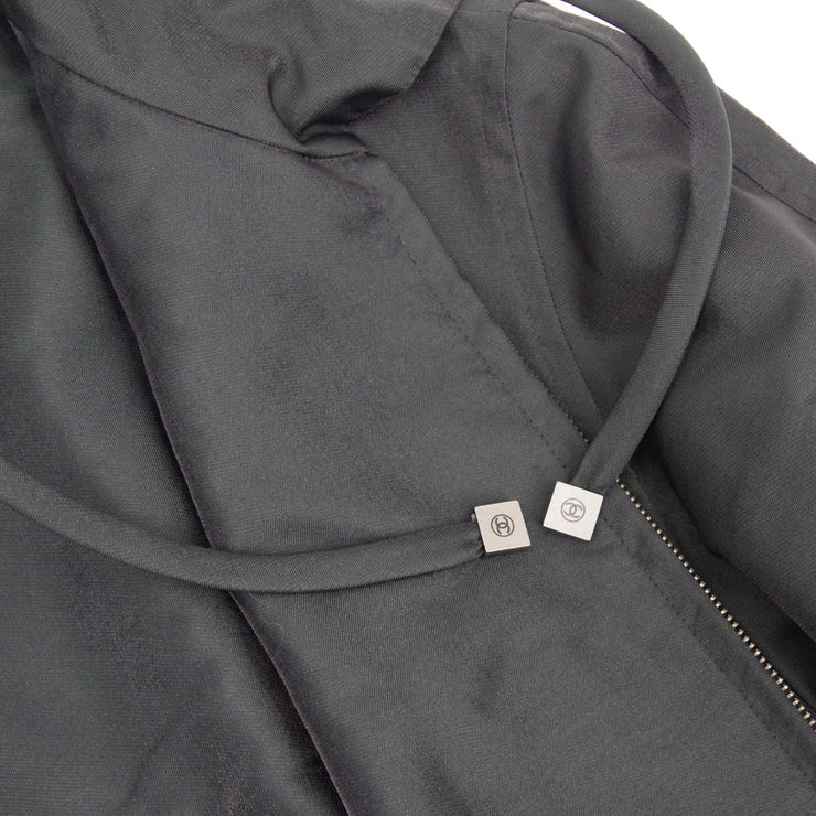 CHANEL 99P #42 Zip Up Jacket Black