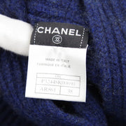 CHANEL 08C #38 Sleeveless One Piece Dress Knit Sweater Navy